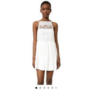 Free people Emily dress white sz large